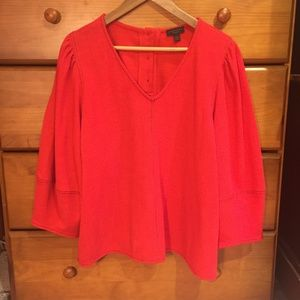 Anthropologie Current Air red top balloon sleeves